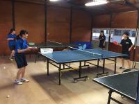 女子卓球部です。今週末に行われる県新人大会に向けて頑張っています!